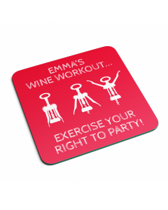 Personalised Name Wine Workout