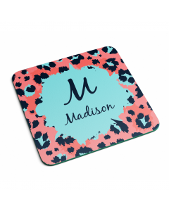 Personalised Name Leopard Initial