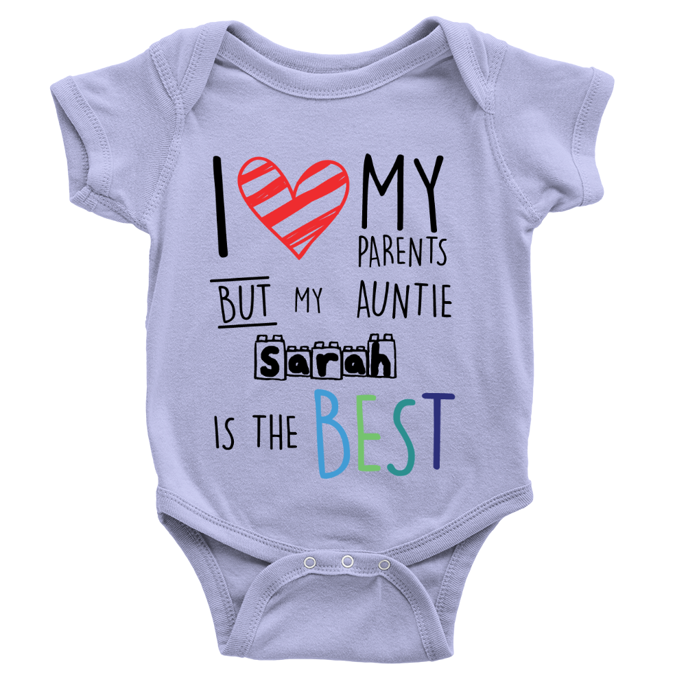 Personalised auntie is the best babygrow cool hearts gift from personalised auntie is the best babygrow cool hearts negle Choice Image